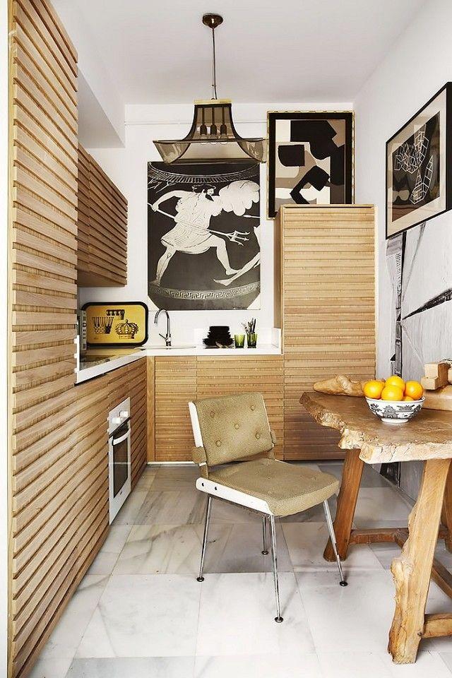 Fassaden-Verkleidung mit Holzlatten-Küchenrenovierung Holz
