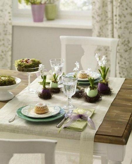 Festtafel Frühlingsblumen Ideen zum Selbermachen