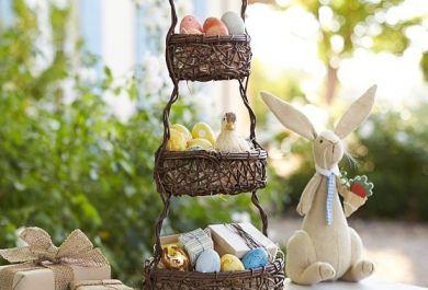 deko ideen zu ostern niedliche h schen und bunte eier. Black Bedroom Furniture Sets. Home Design Ideas