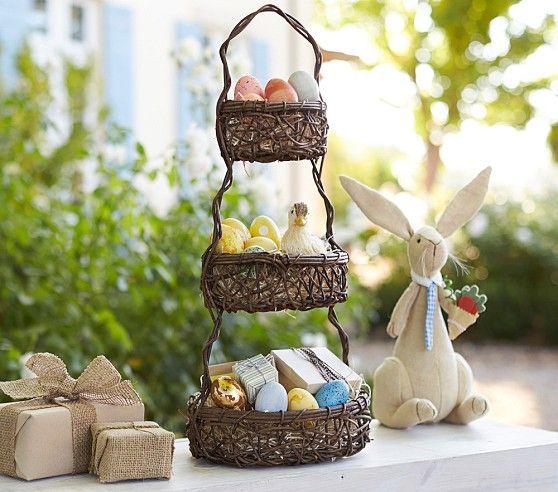 Flechtkorb Geschenke Ostern Gartengestaltung Ostereier