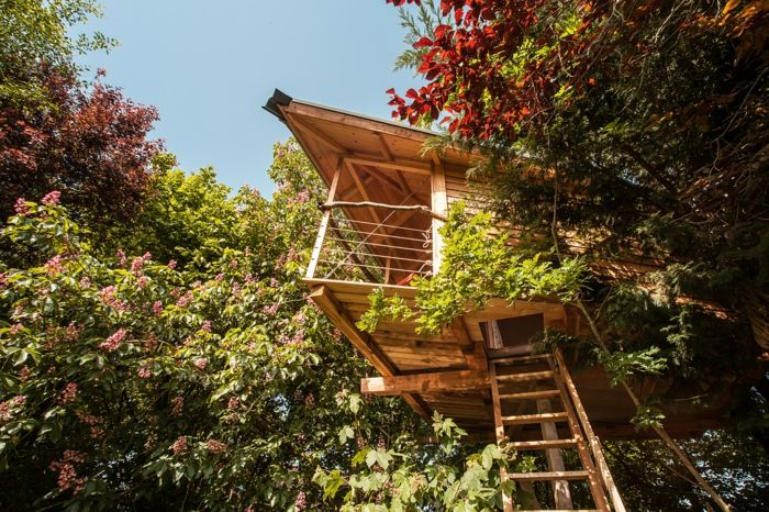 Freiheit und Ruhe im Baumhaus