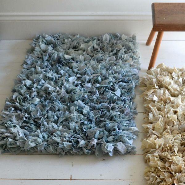Fußmatten in Pastellfarben für jedes Zimmer-Zottelteppich aus Baumwolle
