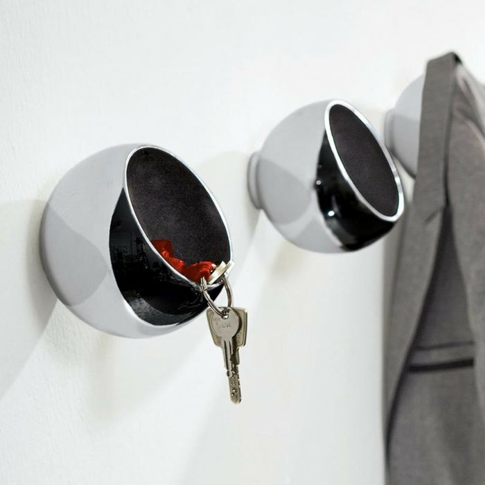 Funktionales auffallendes Design stellt eine selten getroffene Form an Wandobjekte dar-Wandhaken Kugel Sphäre Aluminium