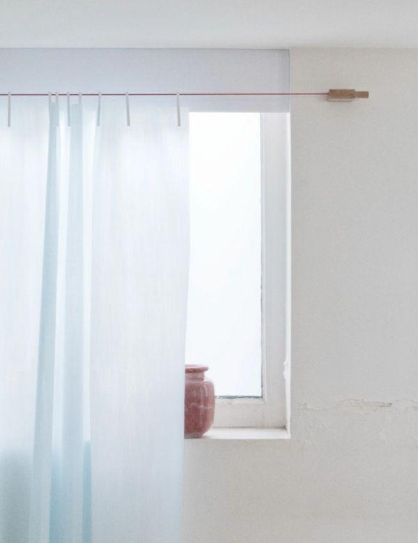 Gardinen hoch am Fenster positionieren-Vorhänge Raumwirkung
