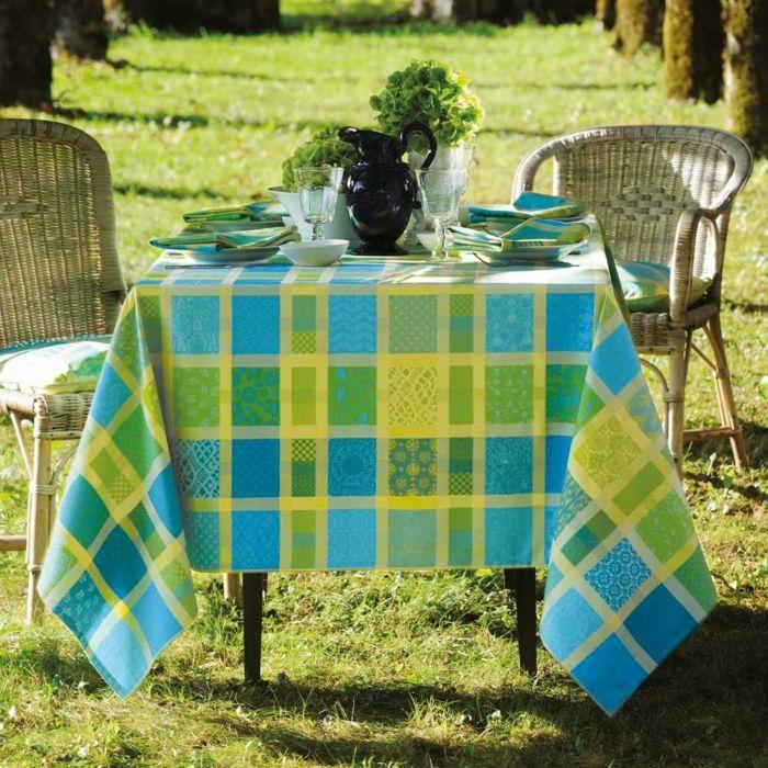 Gartentischdecke pflegeleicht kräftig Farbe grün gelb blau