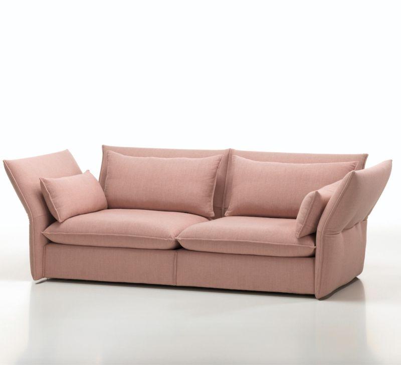Gemütlichkeit ausstrahlen-Sofa Wohnzimmer rosa