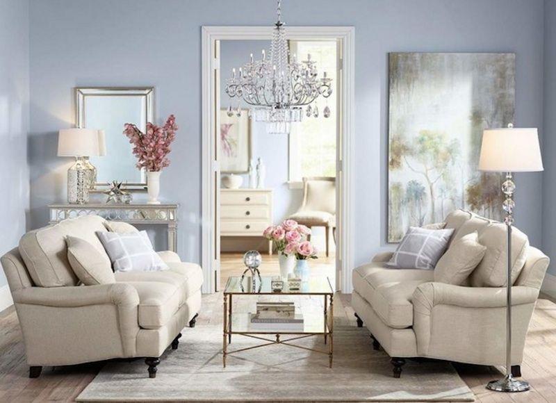 Gemütlichkeit in angenehmen Farbtönen-Wandfarbe Serenity Trend modern elegant