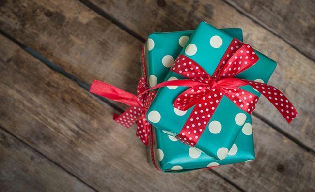 Geschenk Verpackung bunt Rot Grün