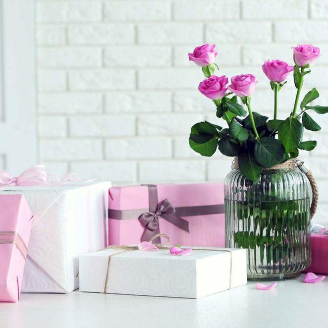 Geschenke gestalten romantische Verpackungen
