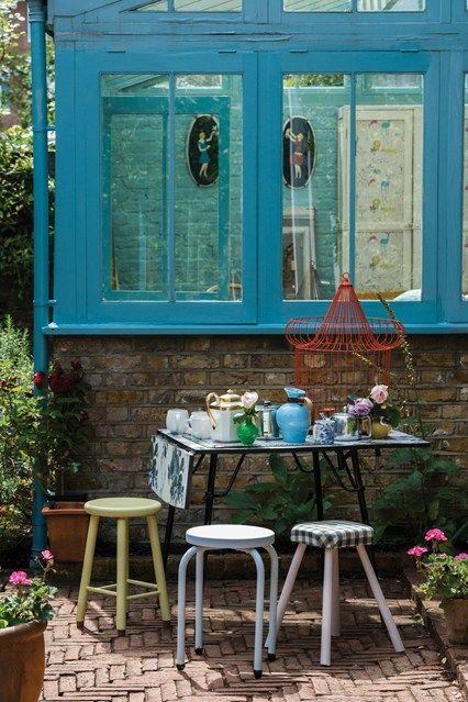 Gewächshaus Blau Gartenmöbel Metall