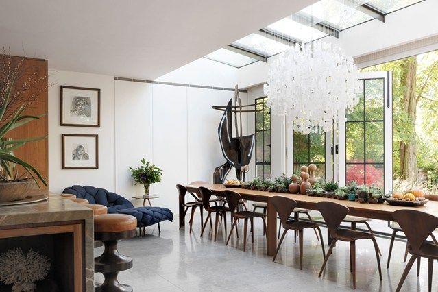 Glashaus groß französische Türen