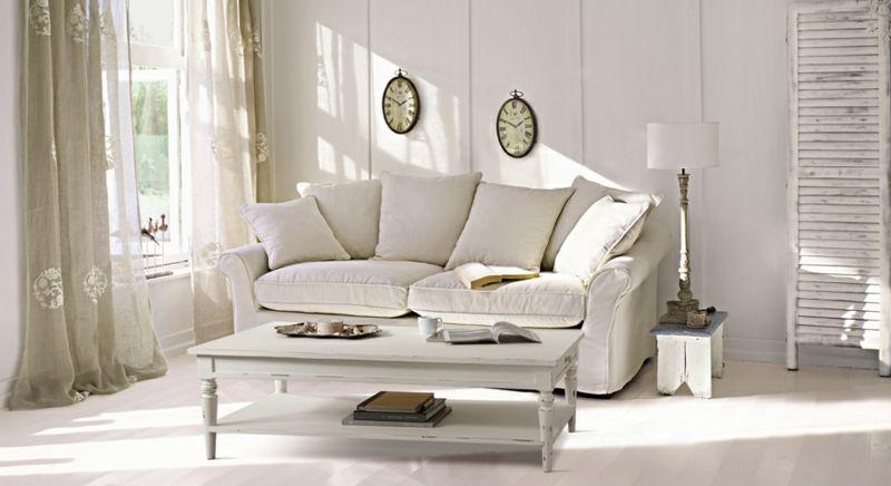 Helles Wohnzimmer-Naturtöne Shabby Chic Möbel