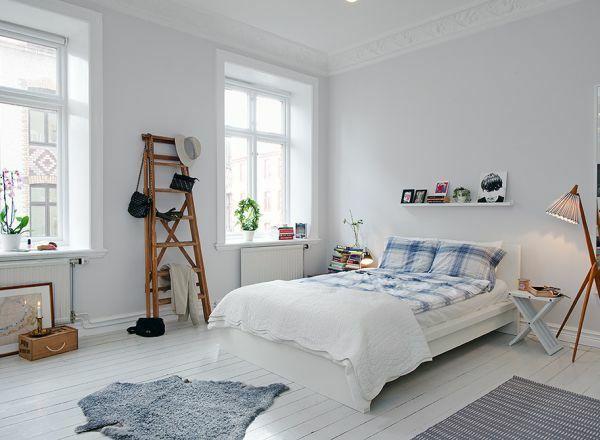 Holzdiele weiß hell Boden-Bodenbelag weiss design