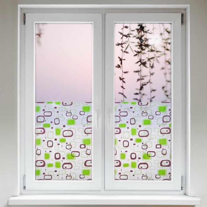 In der Küche sind farbige Designs sehr beliebt-Fensterfolie Sichtschutz