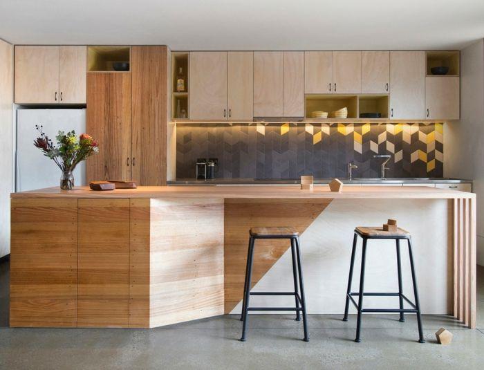Küchegestaltung Anthrazit Fliesen Wand