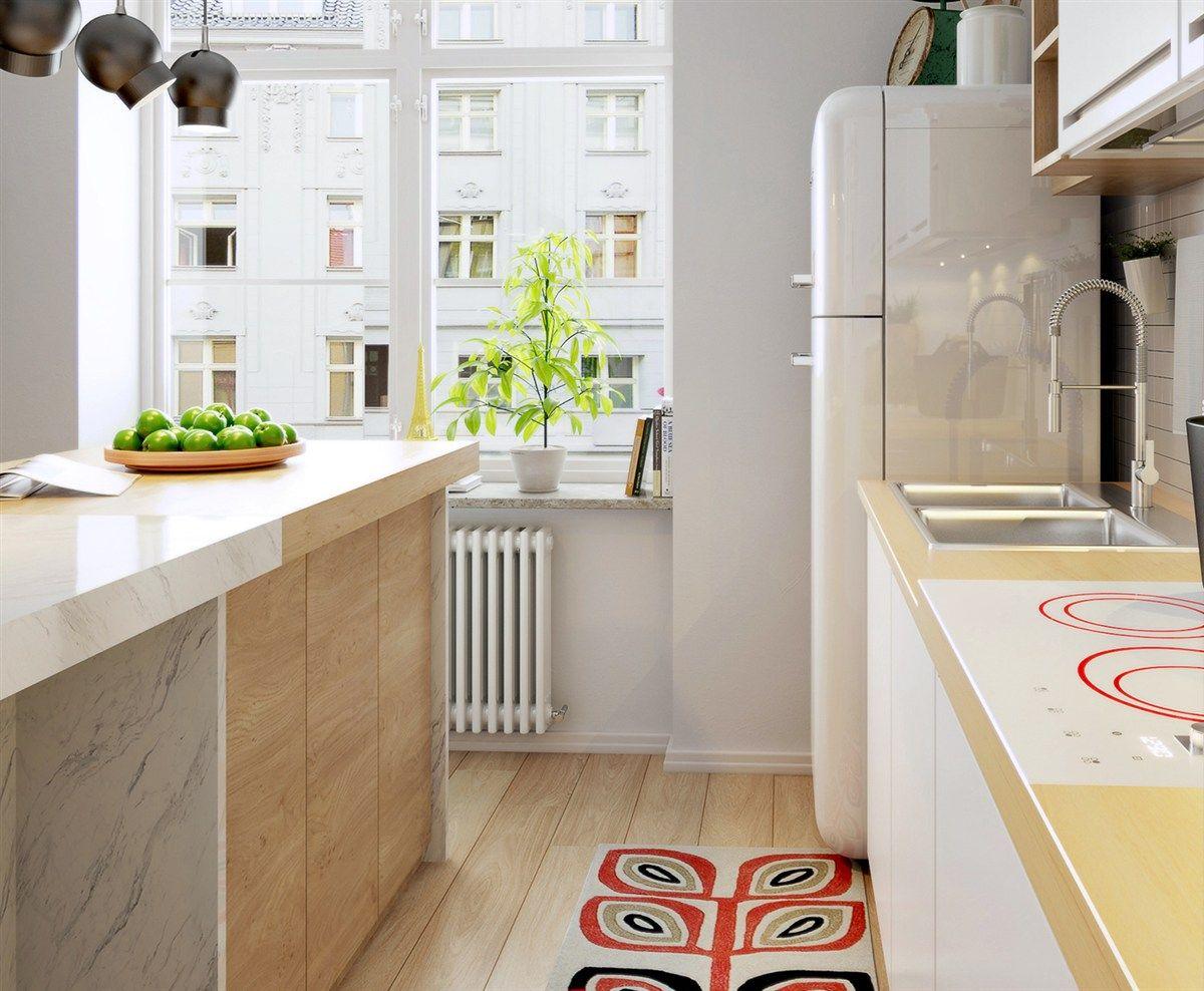 Küchengestaltung Nordic-Style Dekor rot schwarz