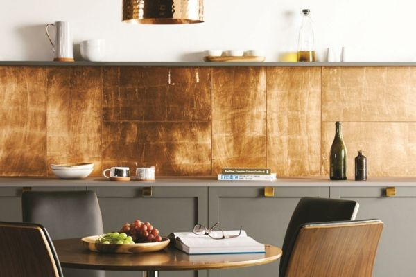 Küchenrückwand Kupfer-Optik modern