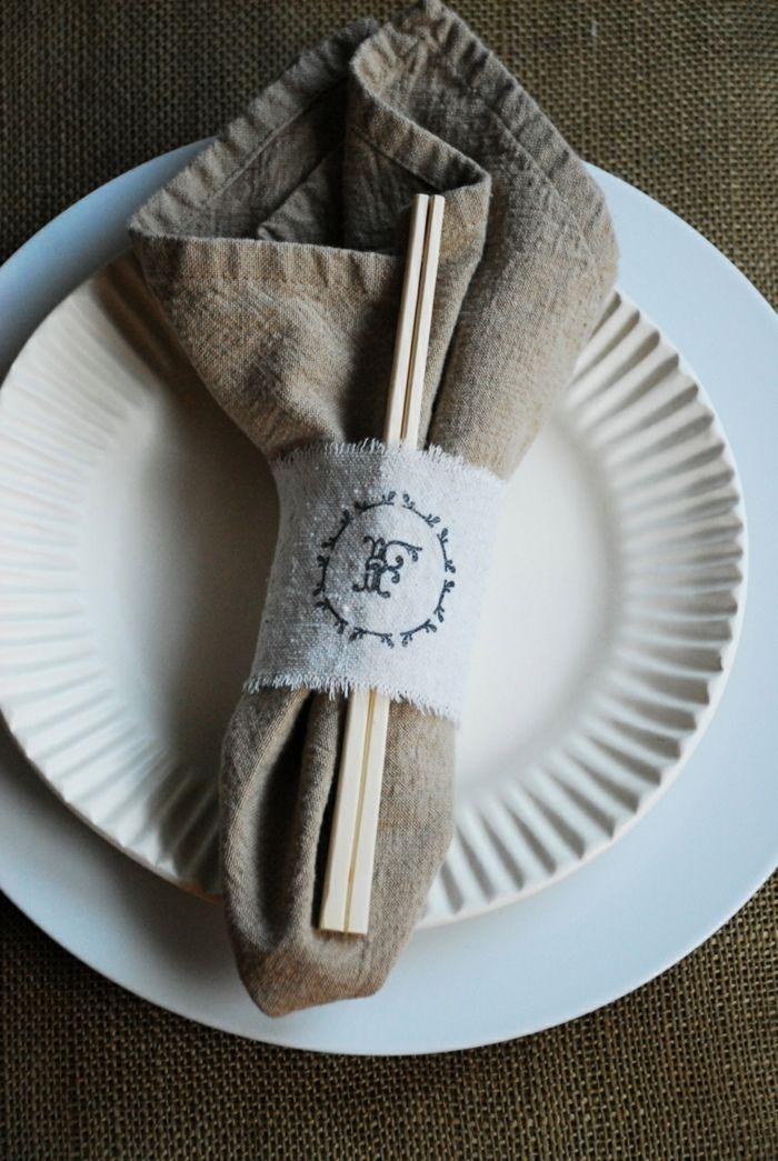 Küchentextilien klassische Stoffservietten Tischdeko