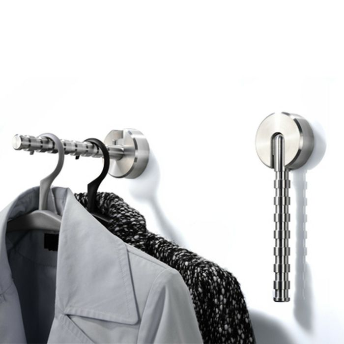 Klappbarer Garderobenhaken bereitet den Grund für einen stilvollen Eingangsbereich-Garderobenhaken Wandhaken Aluminium Kleiderbügel