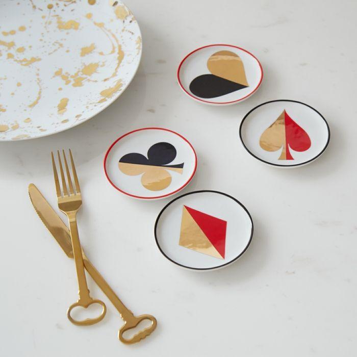 Klassisches Design-Tischuntersetzer Spielkarten Motiv