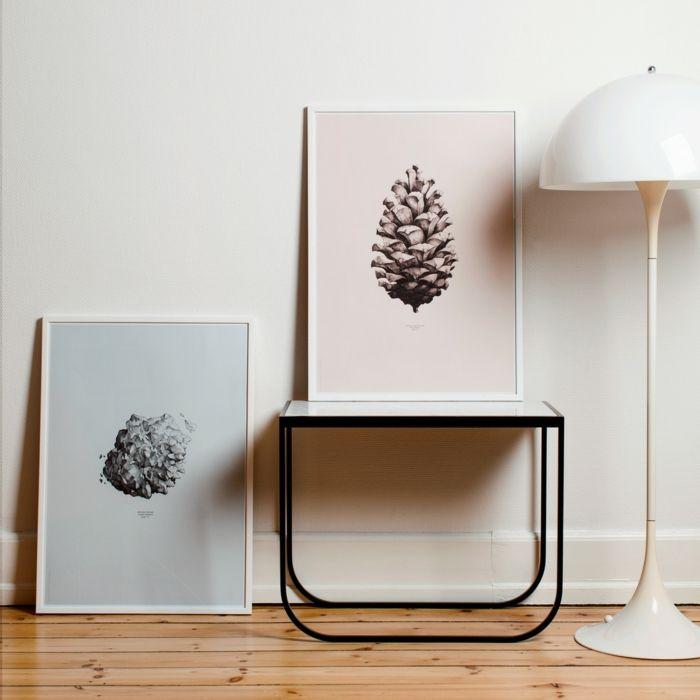Kreative Poster mit Objekten aus der Natur-Designprodukt grafisches Design Kunst