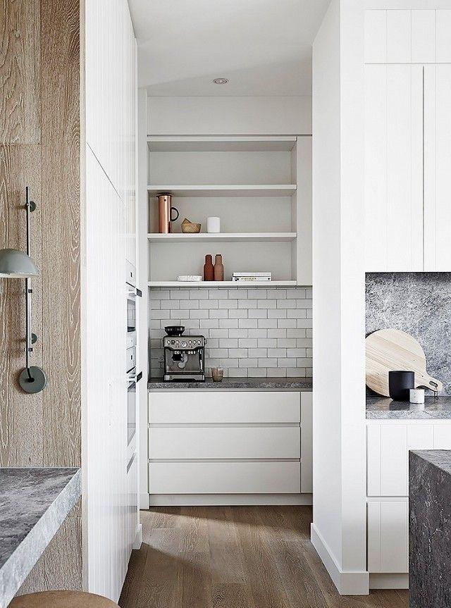 Labyrinthischer Effekt-Küchenrenovierung weiß Holz
