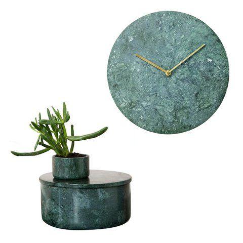 Marmor grün Schüssel Wanduhr