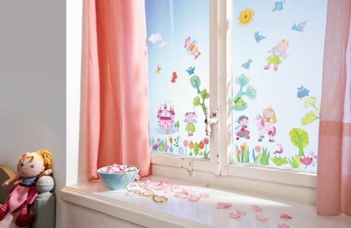 Milchglasfolie und Fensterdeko für das Zimmer Ihres Mädchens-Milchglasfolie Feengarten