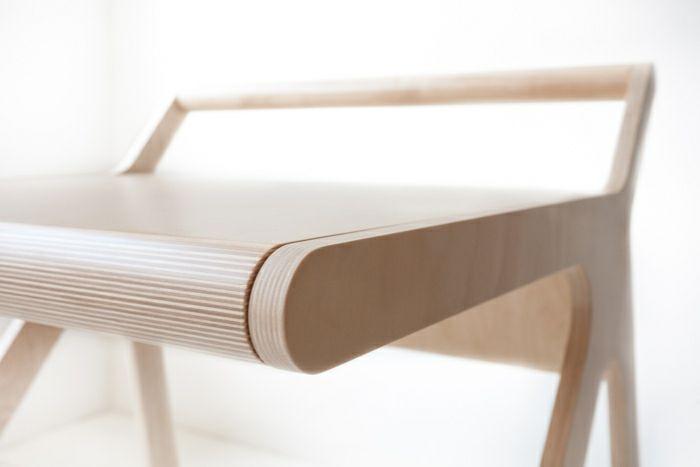 Minimalistisch Schreibtisch Holz