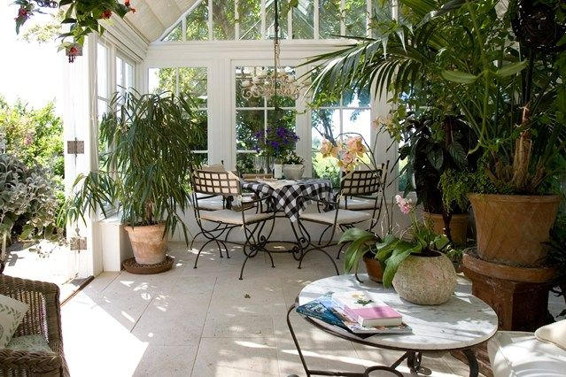 Modern Anbau Pflanzen Entspannbereich