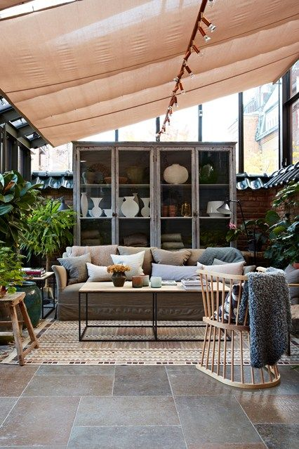 Modern luftig Anbau Wohnzimmer Glashaus