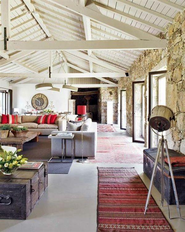 Moderne und traditionelle Möbelstücke mischen-Landhausstil rustikal