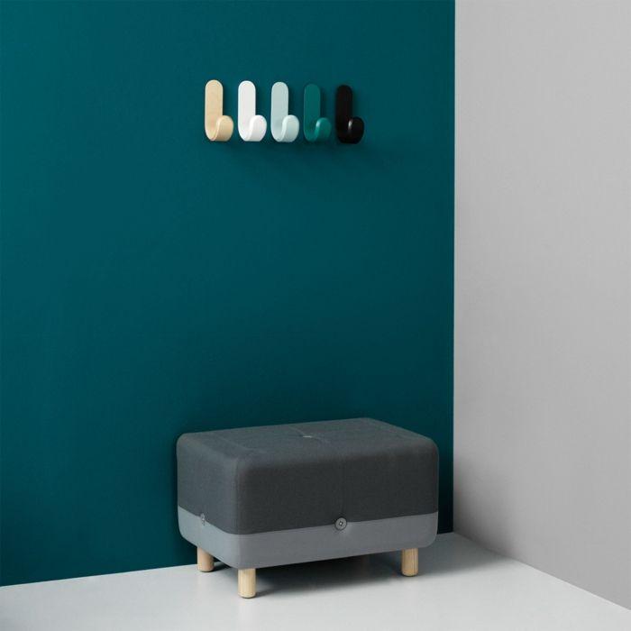 Moderne, verschieden lackierte Wandhaken für den Eingangsbereich-Garderobenhaken