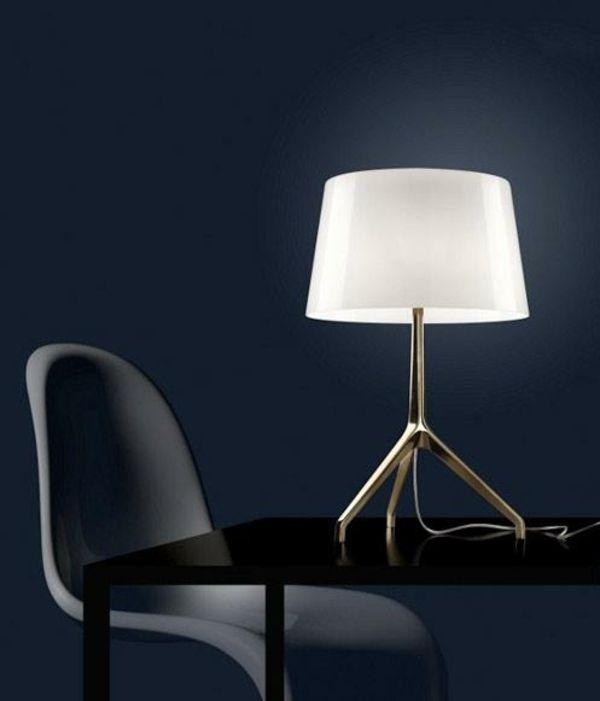 Nach unten gerichtete Lichtverteilung-Elegant weiß Tischlampe