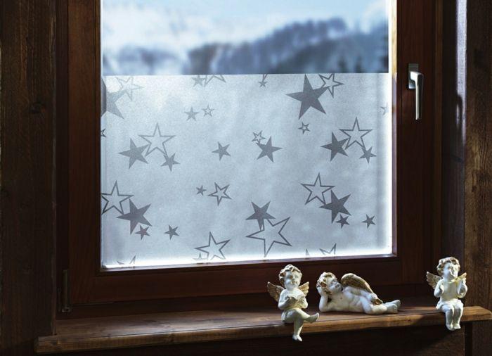 Niedliche Fensterfolie mit Sterne fürs Kinderzimmer-alternativer Sichtschutz