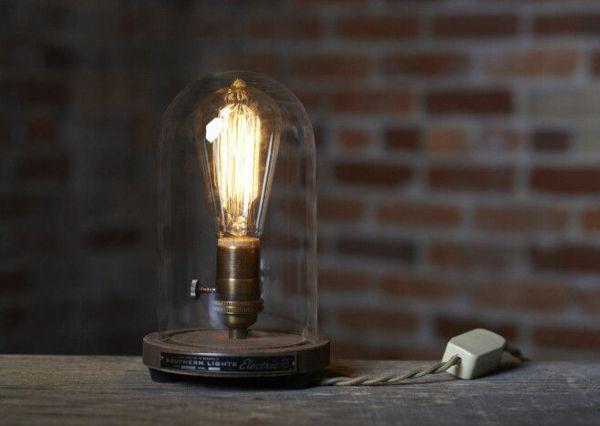 Nostalgische Edison Tischlampe-Beleuchtung Retro Glühbirne