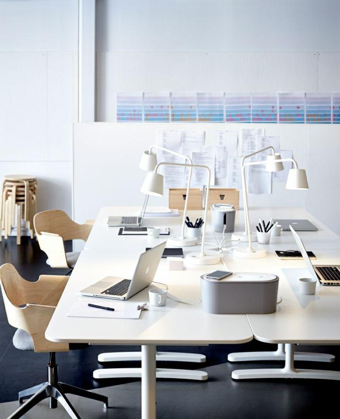 Ordnung am gemeinsamen Arbeitstisch-Ikea Büro Schreibtisch