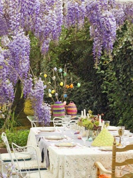 Ostern Dekoration Garten