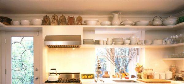 Platz optimal ausnutzen-Küche Wandregale Stauraum