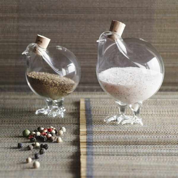 Porzellan-Hühner für rustikalen Charme-Küchenaccessoires modern Gewürzstreuer Glas