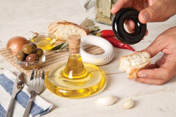 Rundförmiges Tisch-Set-Öl, Salz- Pfefferstreuer modern