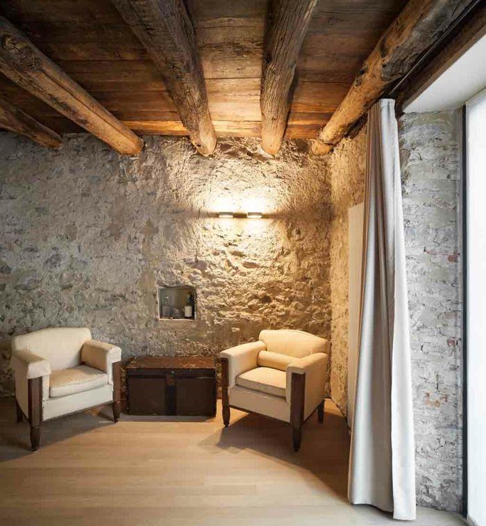 Rustikaler Landhausstil Kombiniert Mit Modernen Wandleuchten