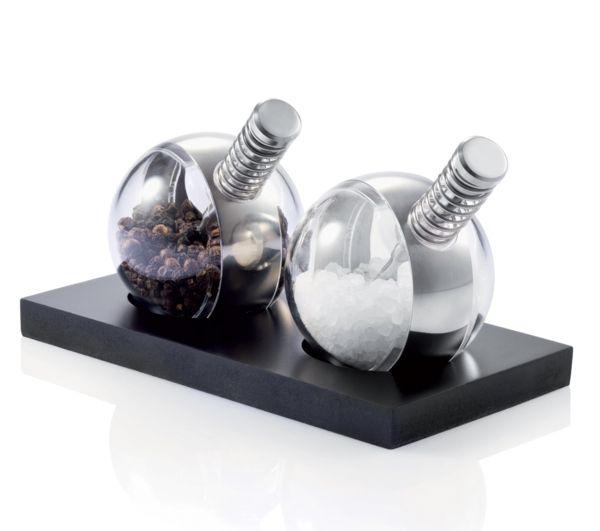 Salz- und Pfeffermühle aus Acryl und Edelstahl-Gewürzmühlen kugelförmig