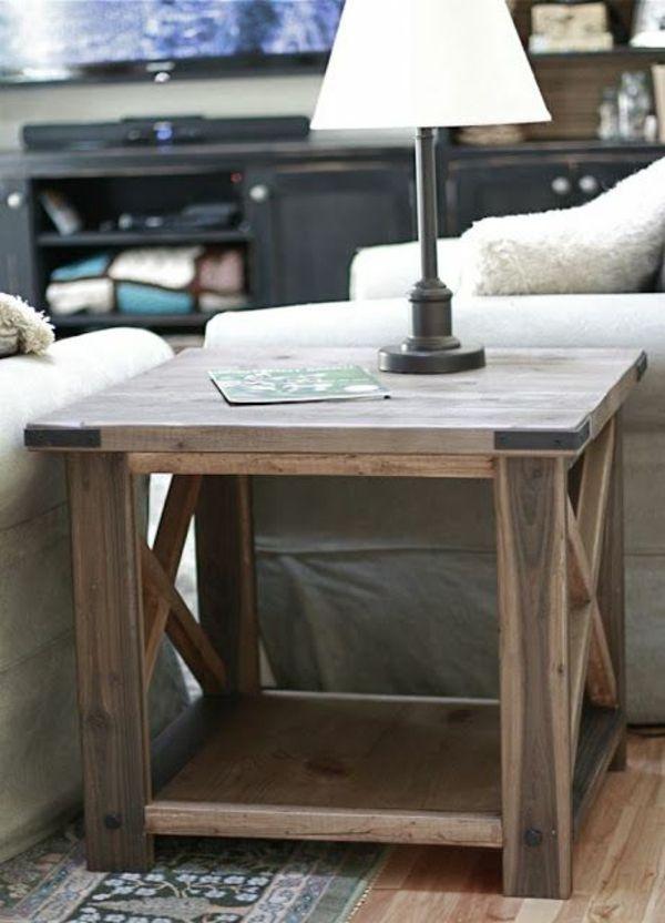 Schöne Accessoires nicht vergessen-Beistelltisch Holz Wohnzimmer einrichten