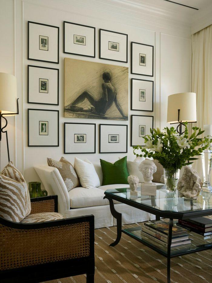 wohnzimmer kunst wandgestaltung, symmetrische einrichtung für gelungenes wohndesign - trendomat, Design ideen