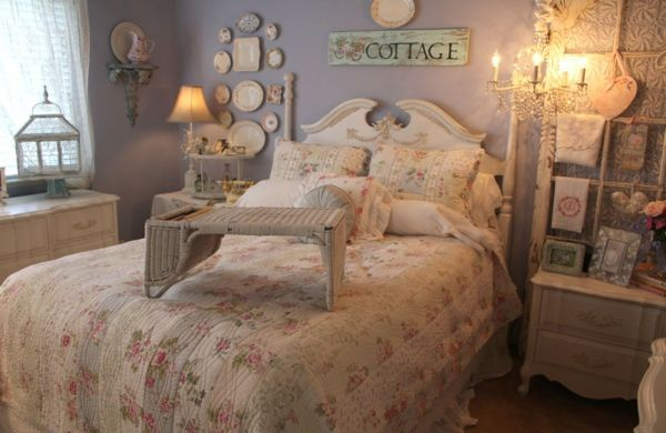 Schlafzimmer in zarten Farben als der perfekte Rückzugsort-Vintage Schlafzimmer