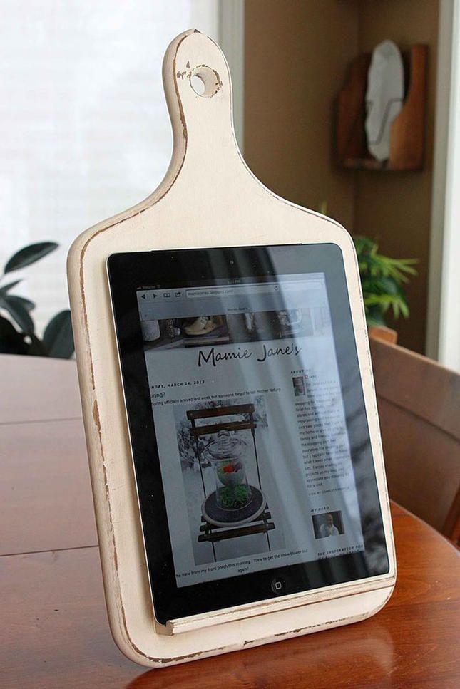Schneidebrett fürs iPad alt Artikel Deko Idee