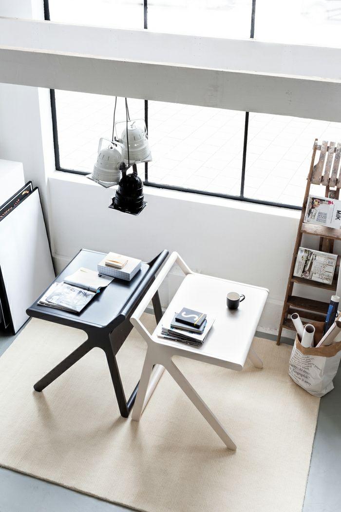 Schreibtisch Designer schwarz weiß für Kinder