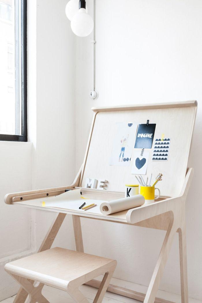 Schreibtisch schlicht Birkenholz