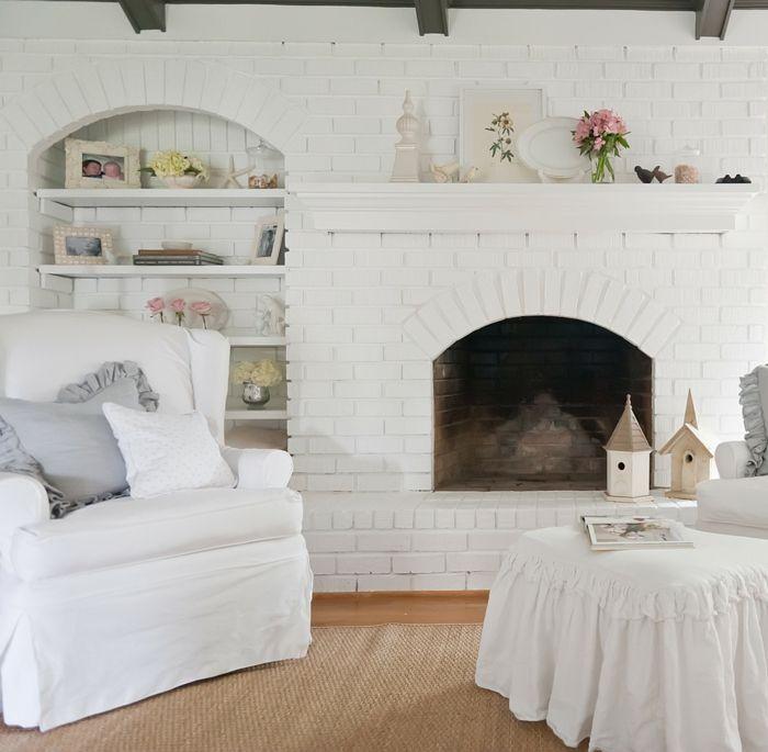 Shabby Chic Wohnzimmer in Weiß-ideen shabby chic